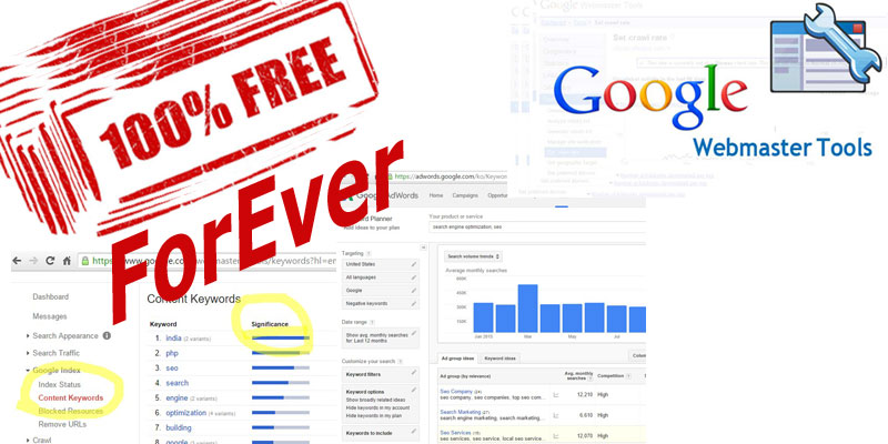 100% FREE MANUAL SEO Analysis with Google Webmaster Tools and Google Keyword Planner