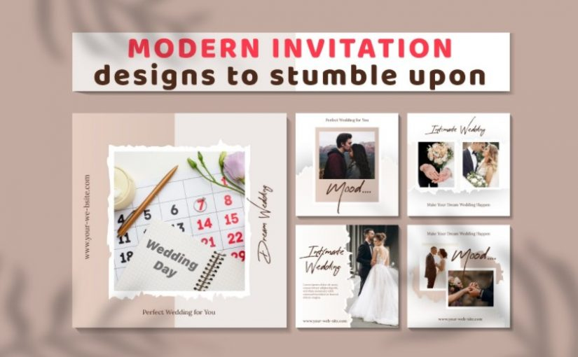 Modern Invitation Templates Design To Stumble Upon